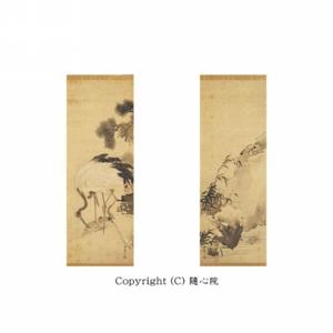 鶴亀図(双幅)・江戸時代 岸駒筆