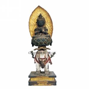 普賢菩薩像・平安時代後期(釈迦三尊像)